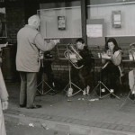 Beginners playing at a busking competition in Castleknock, 1991