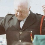 Our conductor Michael Harford in Ashbourne, 1992