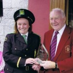 Mick Harford with Stedfast Shoes Brass Band's Linda Rooney, Carrickmacross, 2006