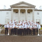 Band with the Stedfast Shoes Brass Band at Aras an Uachtarain, 2010