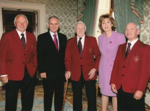 Joe on the left with Martin McAleese, Michael Harford RIP, President Mary McAleese & Eugene Tully RIP.