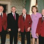 Joe McGregor, Michael Harford & Eugene Tully with President Mary McAleese and Martin McAleese, Aras an Uachtarain, 2010